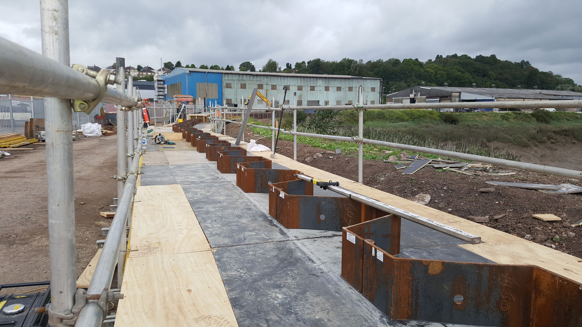 Sheet Pile Capping Beam System | Fast-Form Systems | Formwork