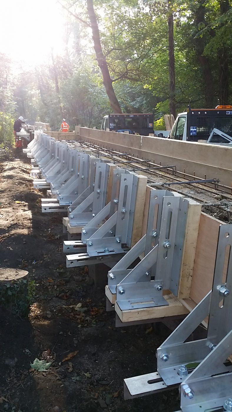 Sheet Pile Capping Beam System   Fast-Form Systems   Formwork