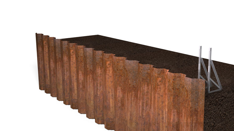 Sheet Pile Beam 02 | Fast-Form Systems