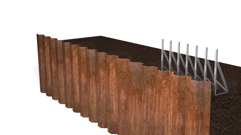 Sheet Pile Beam 03 | Fast-Form Systems