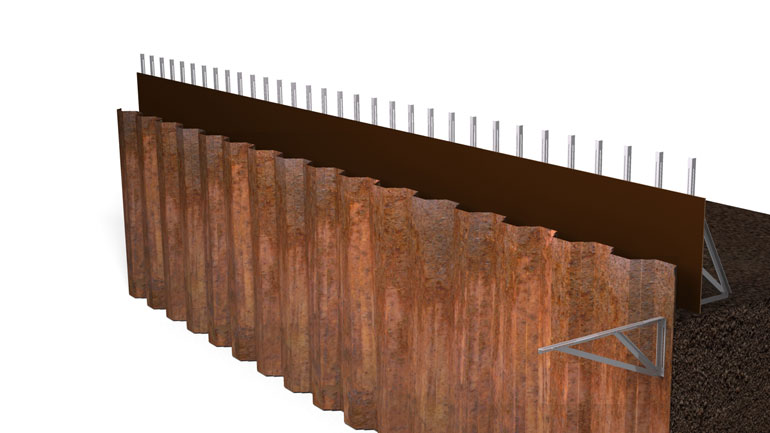 Sheet Pile Beam 05 | Fast-Form Systems