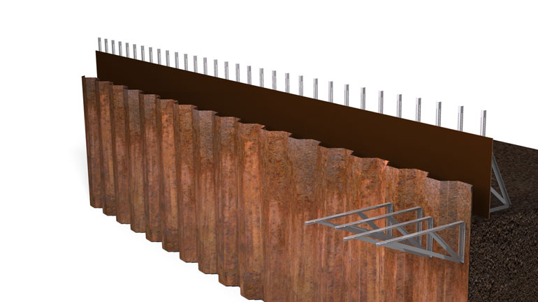 Sheet Pile Beam 06 | Fast-Form Systems