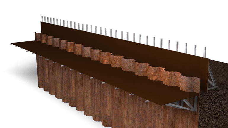 Sheet Pile Beam 08 | Fast-Form Systems