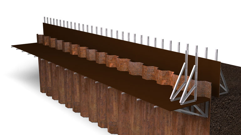 Sheet Pile Beam 10 | Fast-Form Systems