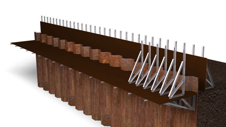 Sheet Pile Beam 11 | Fast-Form Systems