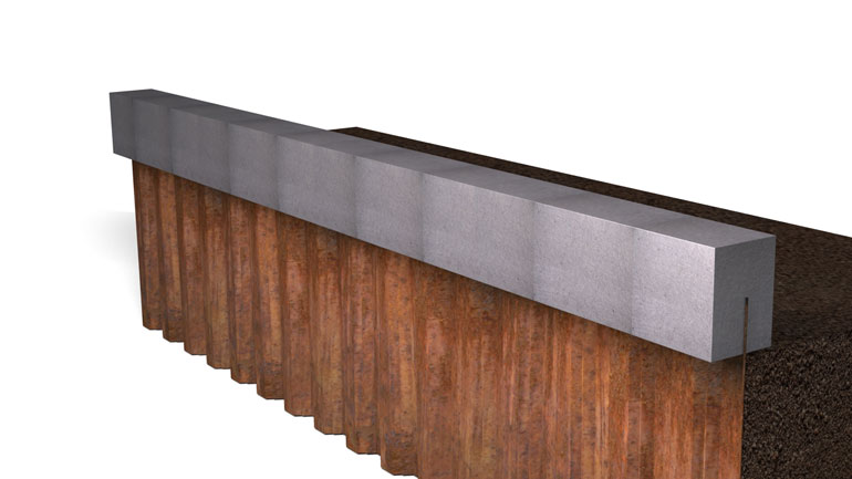 Sheet Pile Beam 17 | Fast-Form Systems